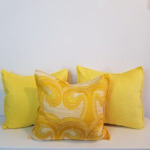 3 x Handmade Throw Pillow Covers Vintage Fabric